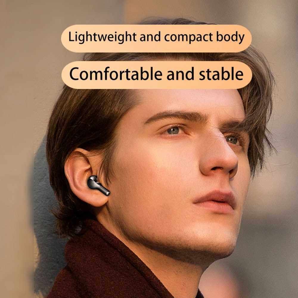 Best Selling R3 Headset LEDs Digtal Display Earphone Ture Wirelessly Stereo Headset with Mic Sports Waterproof Headphones (Black)