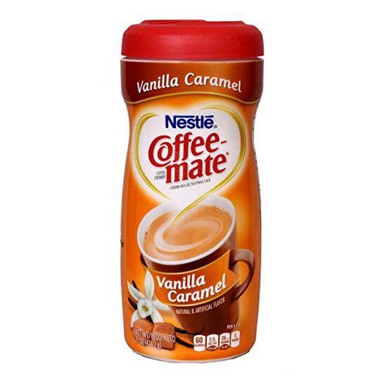 COFFEE CREAMER Nestle Coffee Mate Vanilla Caramel Coffee Creamer (425g) Coffee or Tea