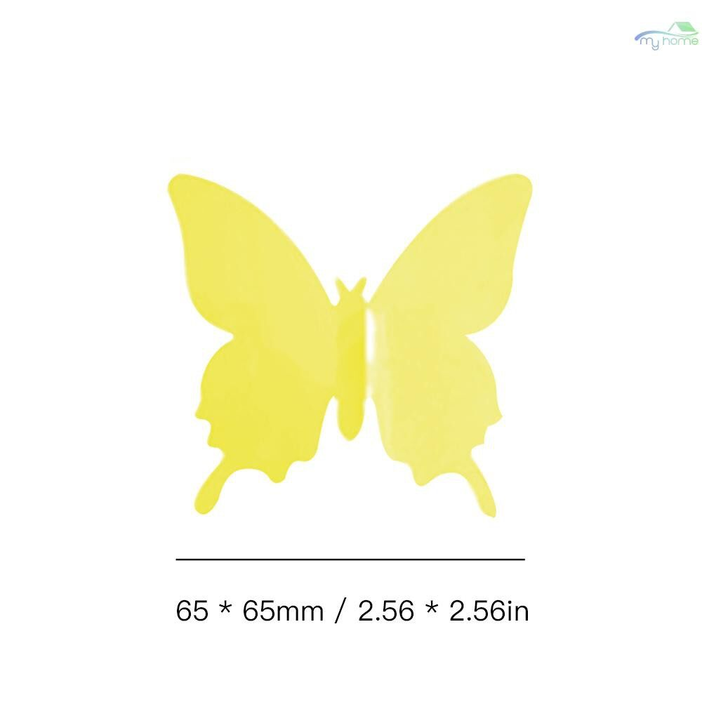 Mirrors & Wall Art - Mural Simulation 3D Butterfly StereoscopicFashion Style Curtain Wall Sticker Living Room - MIX COLOR / VIOLET BLUE / YELLOW / RED / BLACK / PINK / WHITE