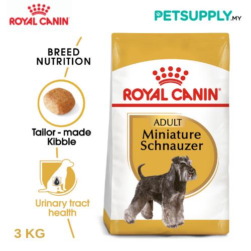 Royal Canin Dry Dog Food Miniature Schnauzer Adult 3kg [makanan anjing - PETSUPPLY.MY]