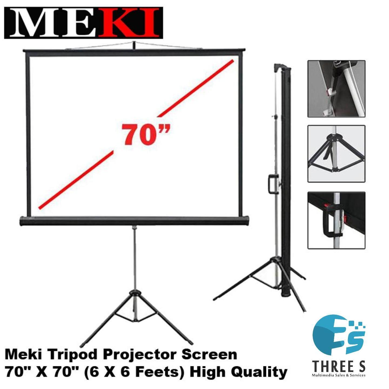 MEKI TRIPOD PROJECTOR SCREEN 70 x70