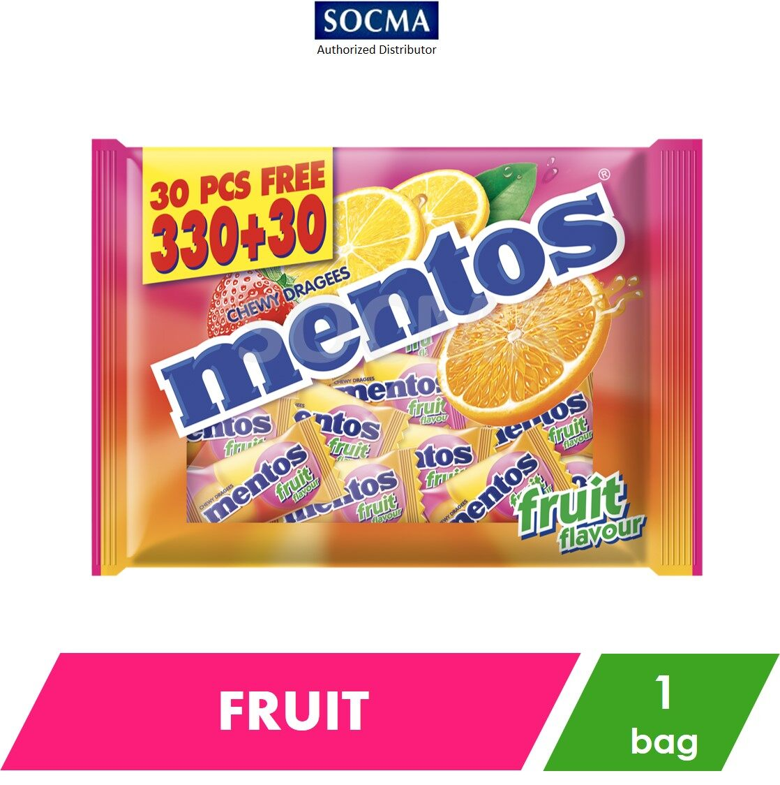 Mentos Pillow Pack - Fruit (2.7g x 330+30) [1]