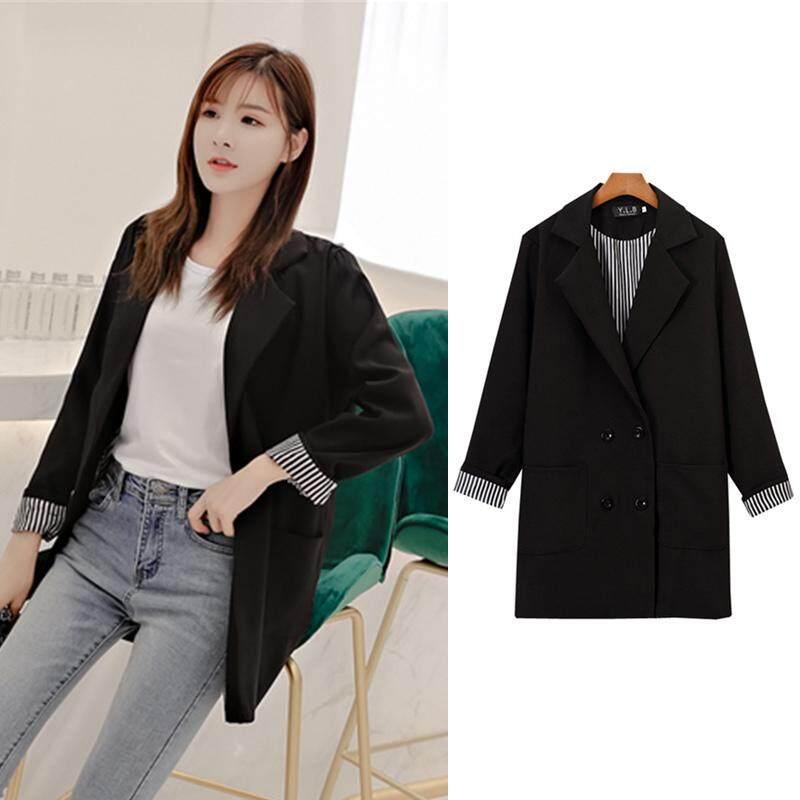 (Pre Order14 Days JYS Fashion Korean Style Women Blazer Collection 525a- 9374col525a-9374--Black-L