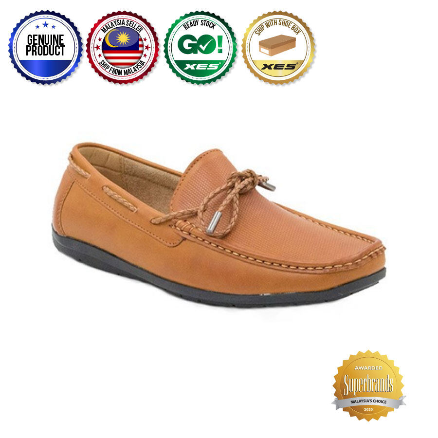 XES Men MCGL1103 Casual Ribbon Loafers
