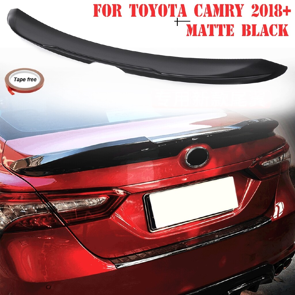 Car Lights - FOR - TOYOTA CAMRY MATT BLACK ABS TRD DUCKBILL TRUNK LID SPOILER WING - Replacement Parts
