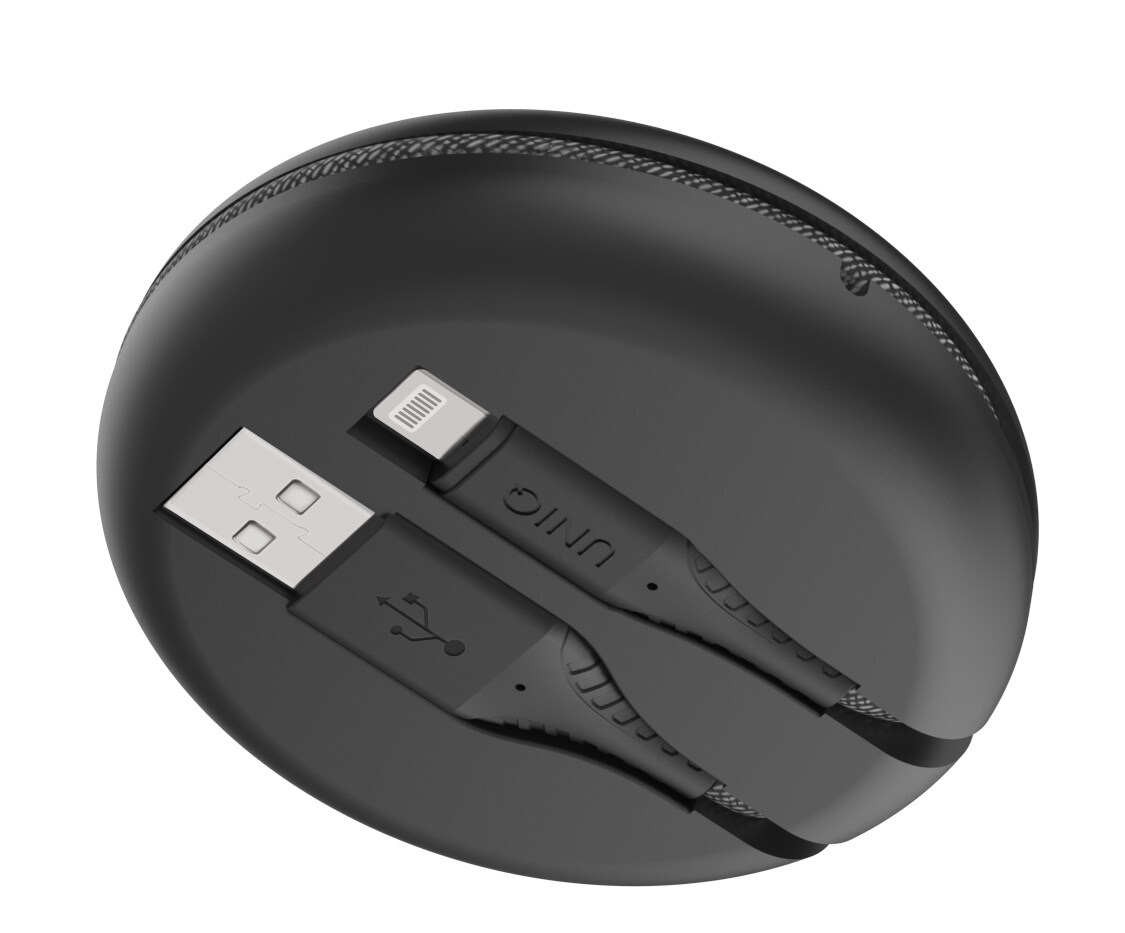 Fast Charge Cable + Organiser 2.4A USB-A to Lightning (MFI) Halo