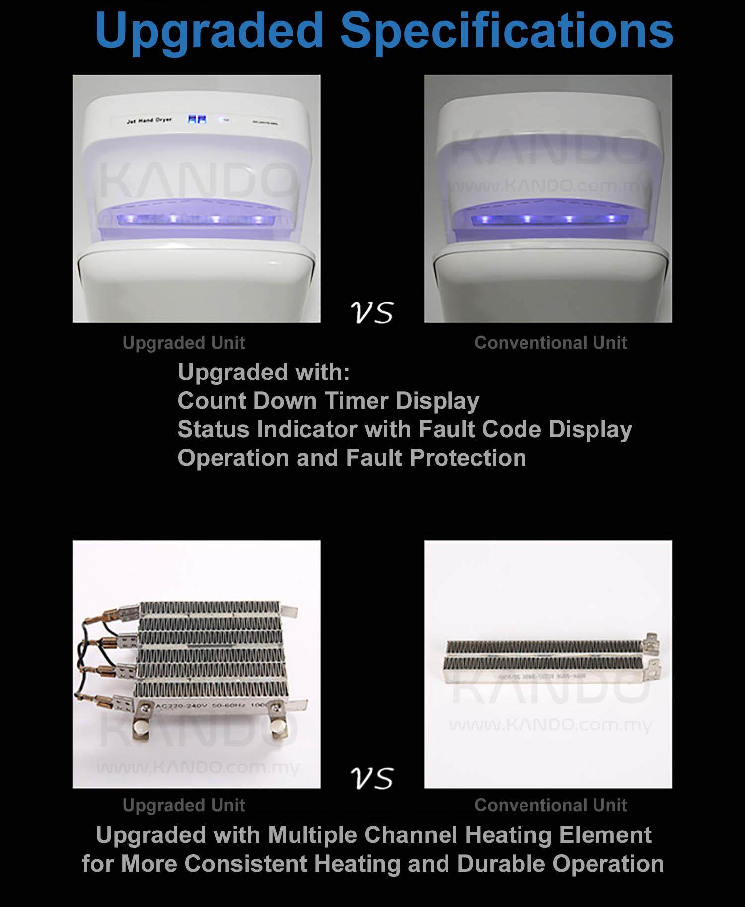 [MALAYSIA] Dual Jet Hand Dryer 1650W with Air Blade Hand Dryer Infrared Sensor Air Drier Industrial Hand Drier 6 SECONDS DRYER Jet Hand Dryer Jet Hand Towel Injection Hand Dryer