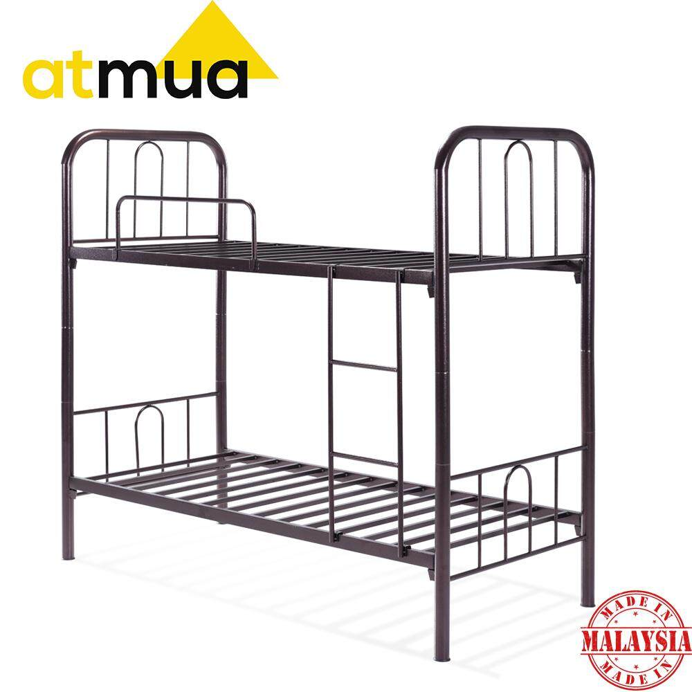 Atmua Kato Bunk Bed Double Decker Single  Size Double Decker Metal Bed Strong & Sturdy *Easy Install / Katil Besi ( Super Base )