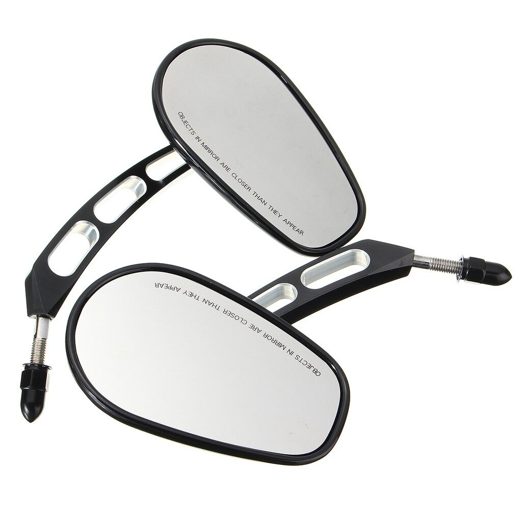 Car Lights - Pair Rearview Side Mirrors 8mm For Harley Davidson Softail XL Sportster Touring - Replacement Parts
