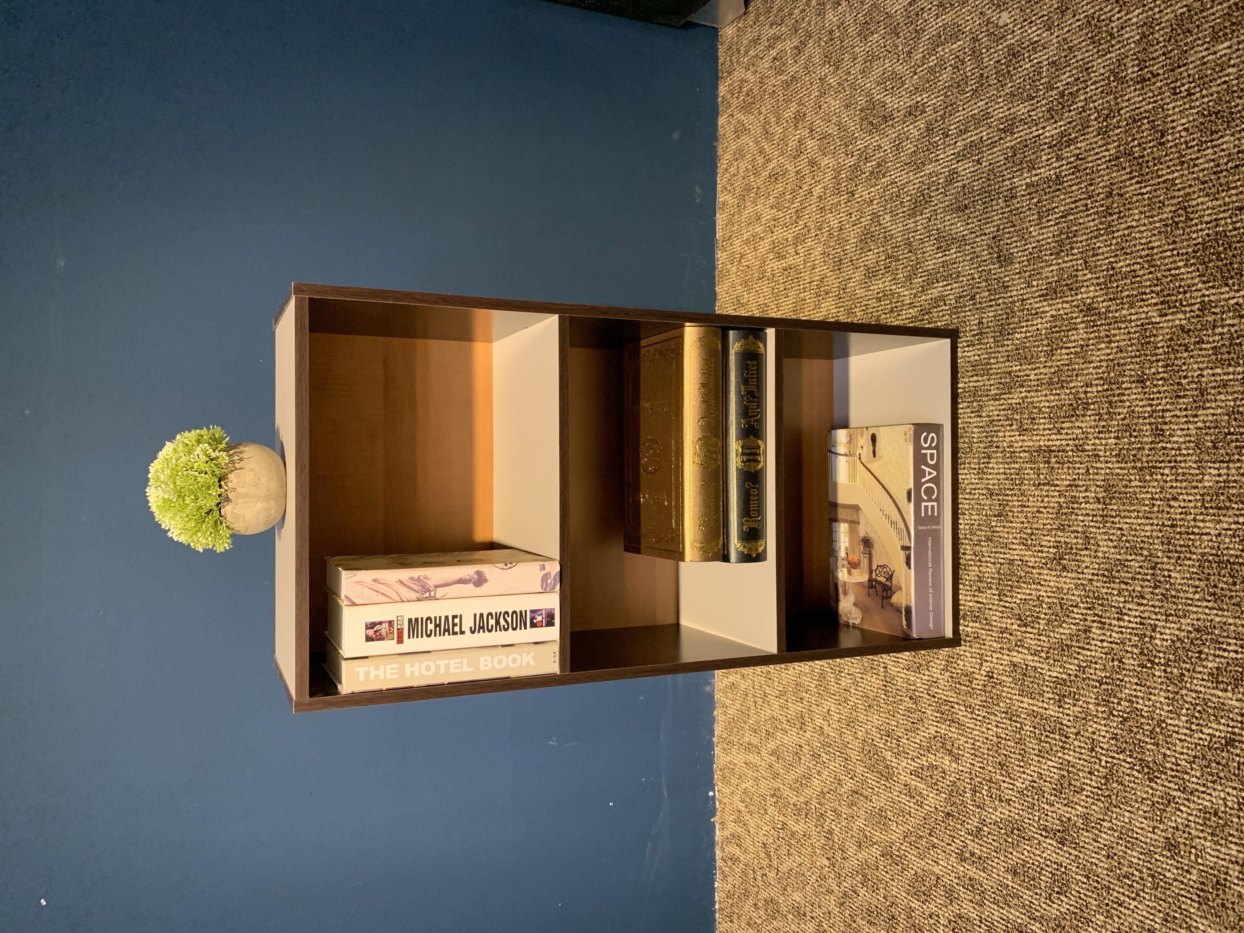 Atmua 3 Tier Colour Box / Bookshelf / Utility Shelf / Multipurpose Shelf / Rak Buku 12mm Thickness