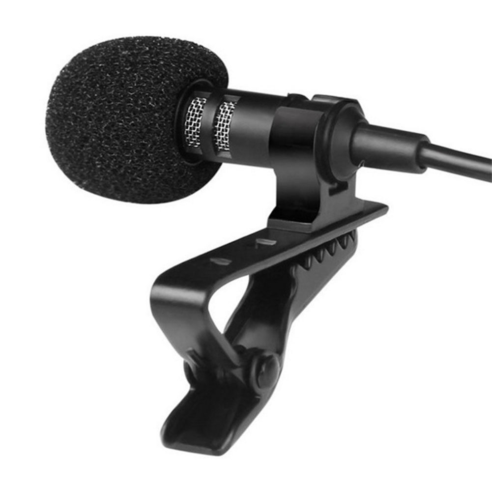 3.5mm Jack Microphone Tie Clip-on Lapel Mikrofon Microfono Mic for Mobile Phone