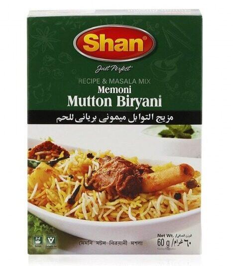 SHAN MEMONI MUTTON BIRYANI MASALA– 60 GM