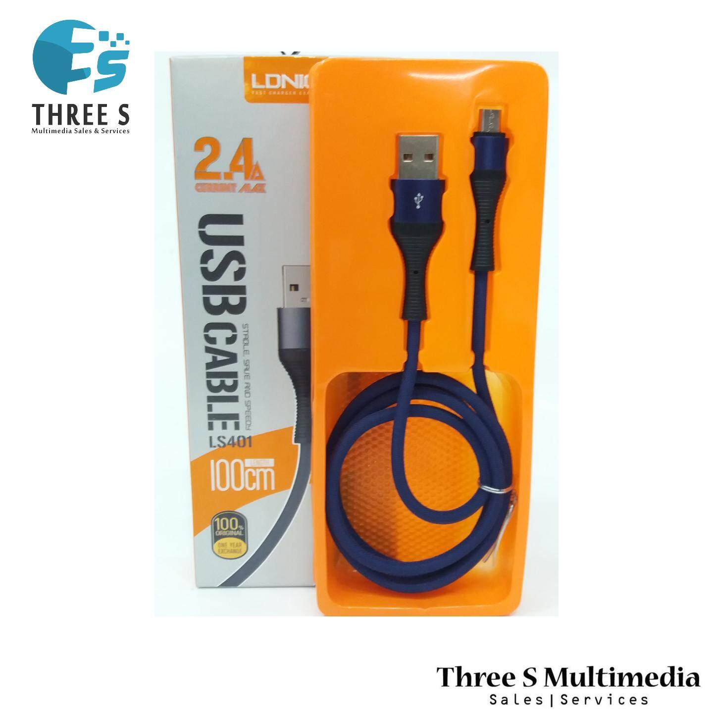 LDNIO USB CABLE LS401 FAST CHARGER 2.4A