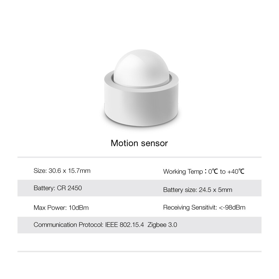 Sensors & Alarms - KONKE Zigbee 3.0 Open Protocol Smart Home Human Body Sensor WIRELESS Connection Light Motion Sensor - Security Surveillance