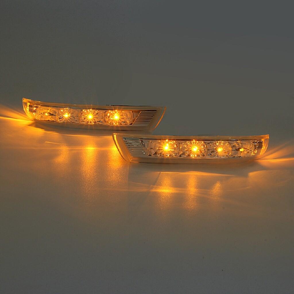 Car Lights - LED Turn Signal Light For Hyundai Santa Fe 2010 - 2012 For Verax IX55 2007-2012 - BLACK-XXL