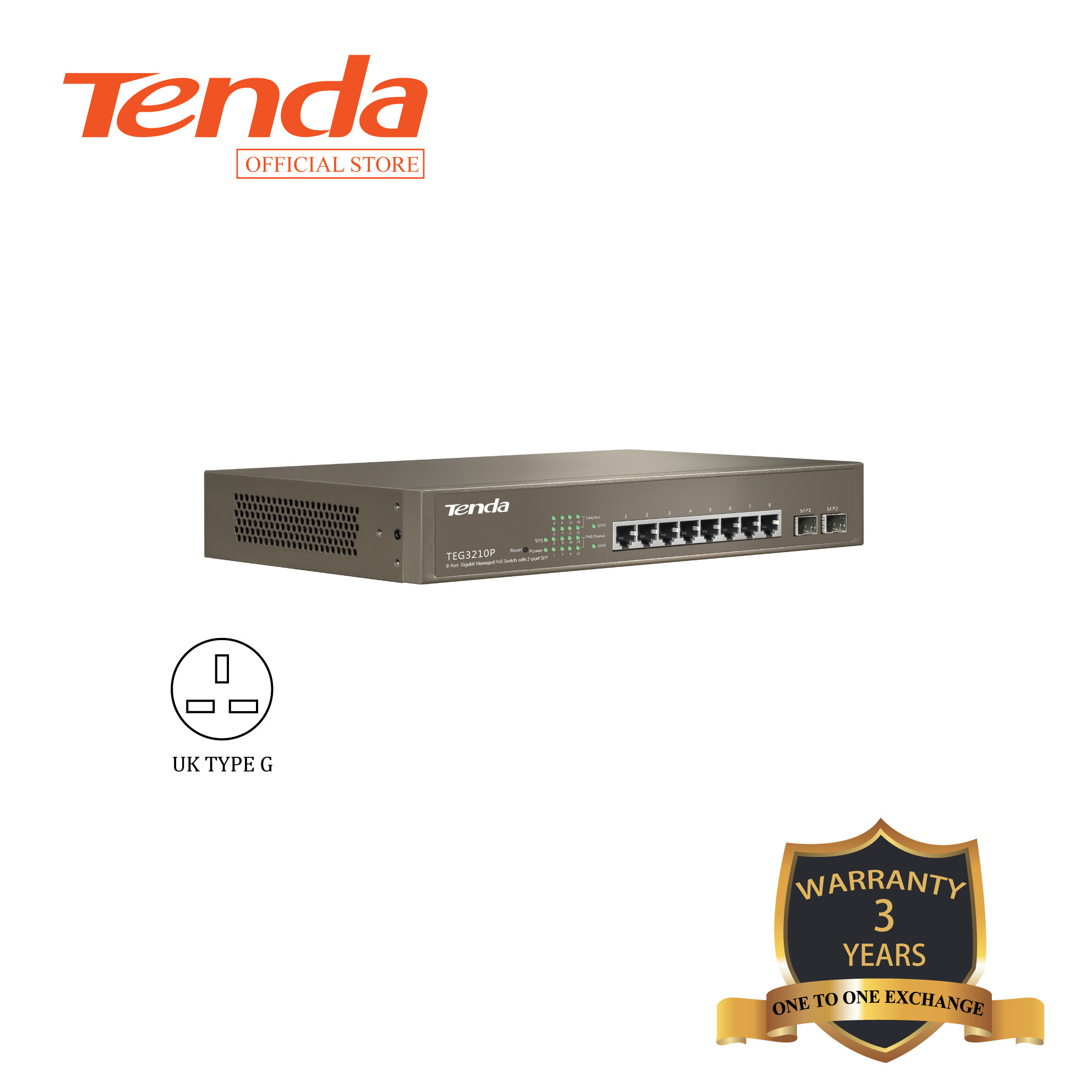Tenda TEG3210P 8G+2SFP Managed PoE Switch