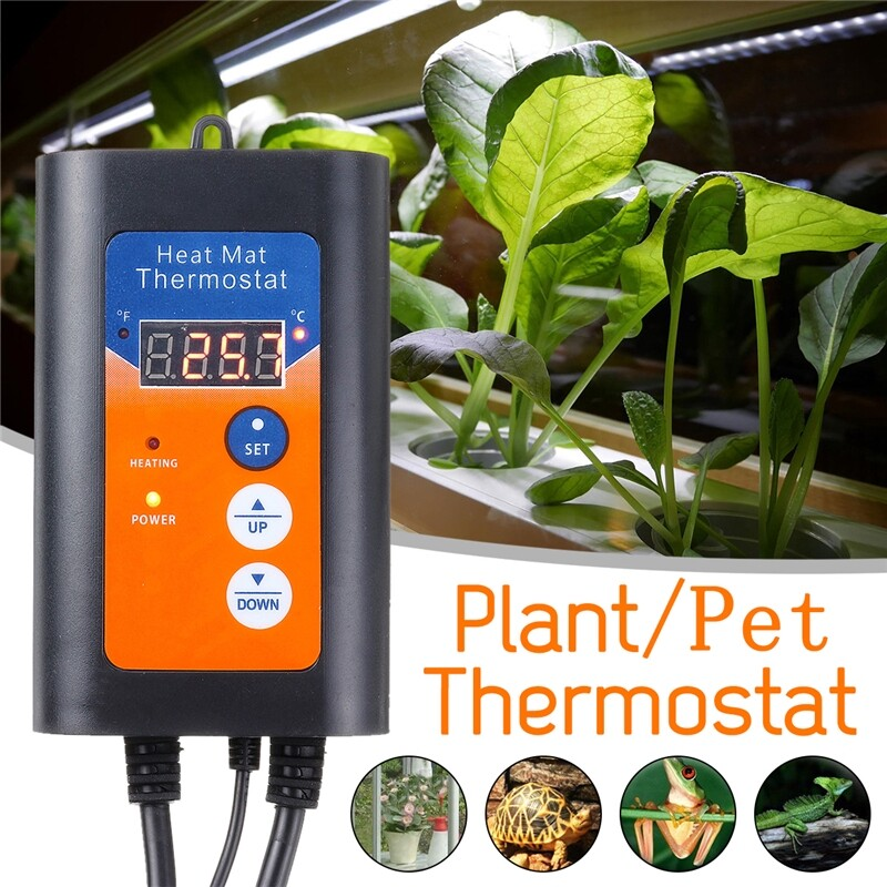 Plugs & Adapters - 1000W Plant/Reptile Pet Heat Lamp Thermostat LCD Display Controller - Home Improvement