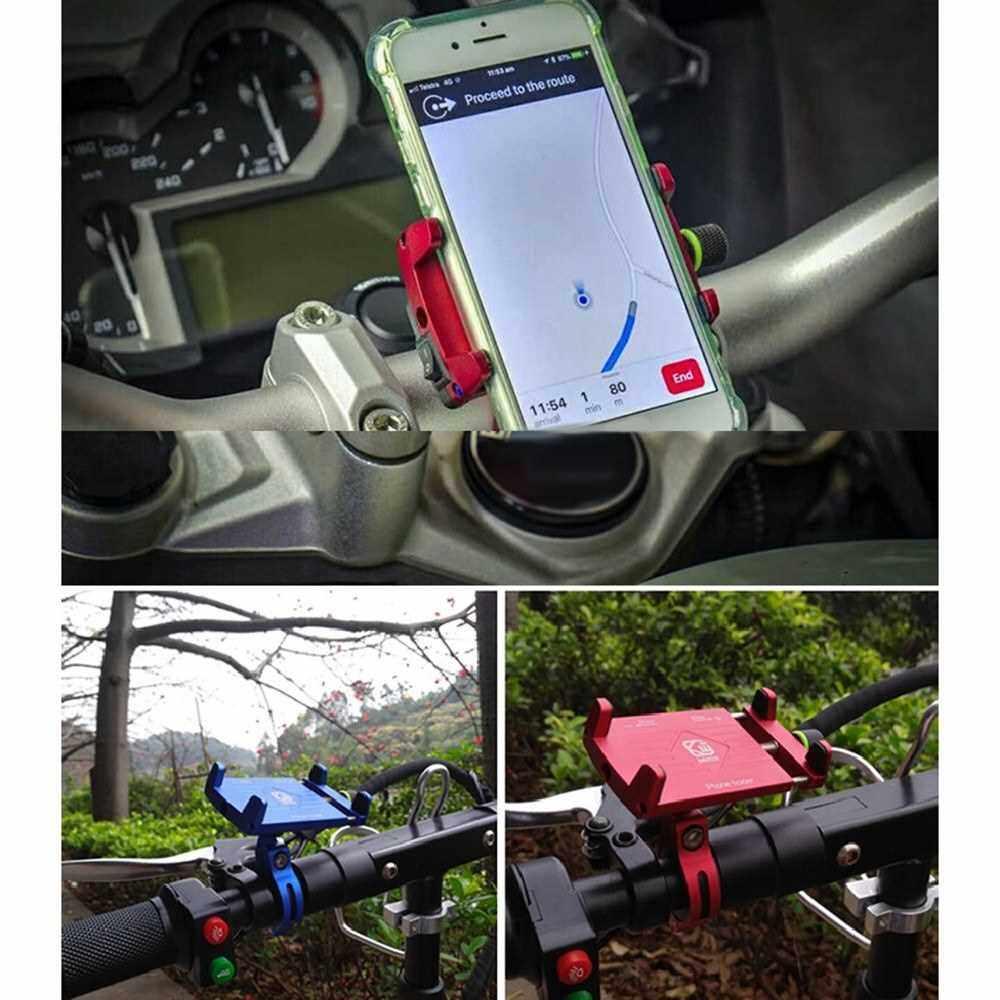 Aluminum Super Solid Stable Motorcycle Handlebar Phone Holder GPS Mount Black (Black)