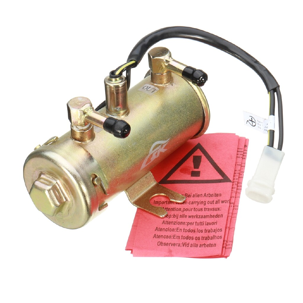 Engine Parts - 12V FACET RED TOP STYLE FUEL PETROL PUMP KIT UNIVERSAL ELECTRIC FOR DIESEL WATER - Car Replacement