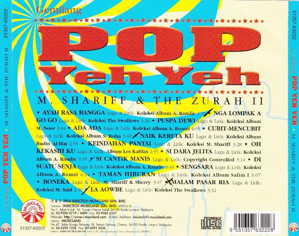 M. Shariff & The Zurah II Gemilang Pop Yeh Yeh CD