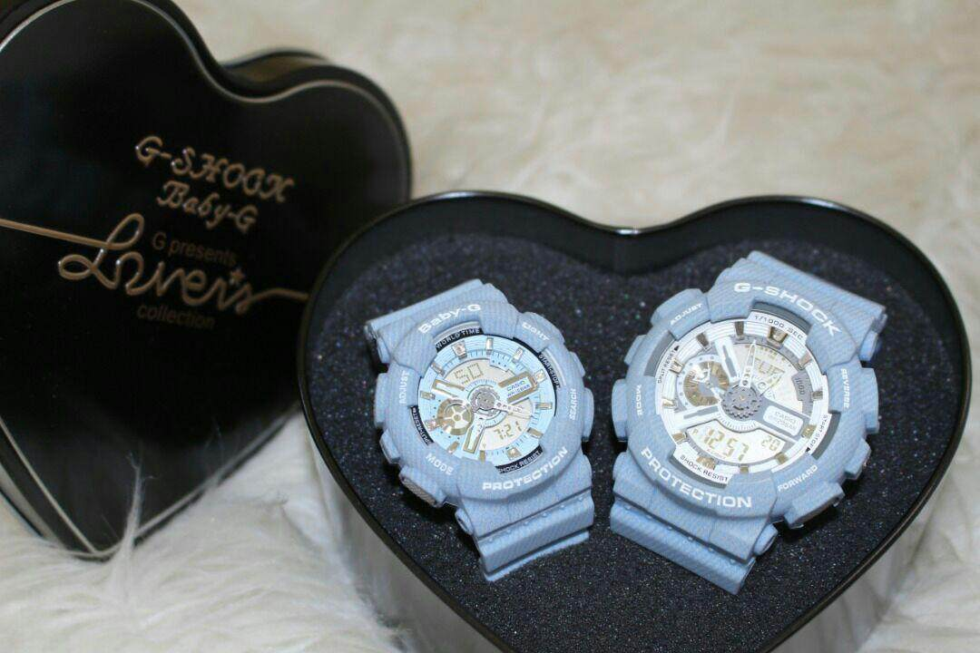 Good Quality New Fashion_Casio_G-Shock_Couple GA-110 & BGA-110 Dual Time Display Set For Men & Women With Own Heart Gift Box Mineral Glass New Sport Casual Follow Us For More