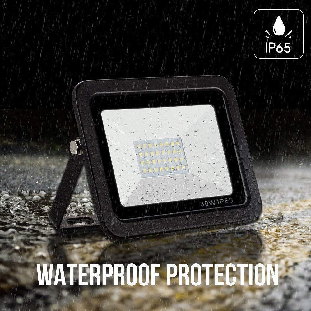 Lighting - AC 180-265V 50W 64LEDs Flood Light Thin Spot Lamp Landscape Floodlight IP65 Water Resistant Bright - 50W & WARM WHITE / 50W & WHITE / 30W & WARM WHITE / 30W & WHITE / 10W & WARM WHITE / 10W & WHITE