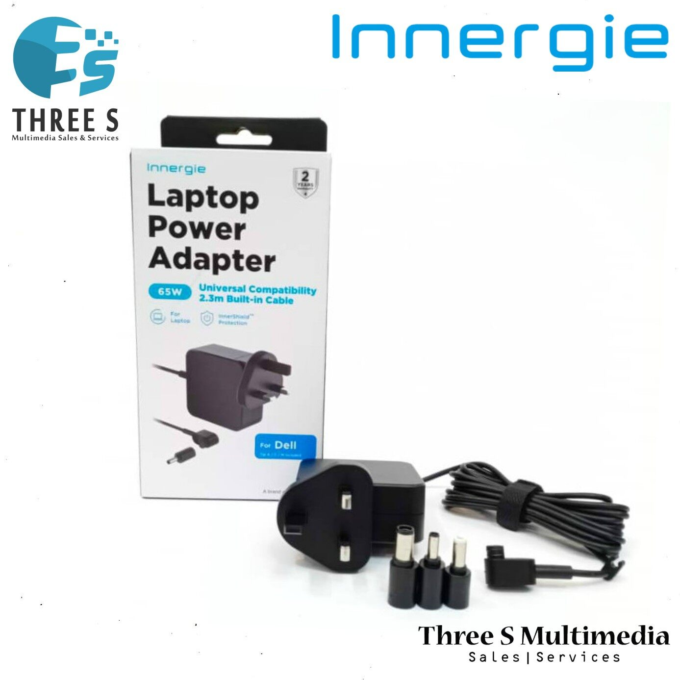 Innergie 65W Laptop Power Adapter Universal Compatibility with Built-in Cable For DELL A Brand Of DELTA