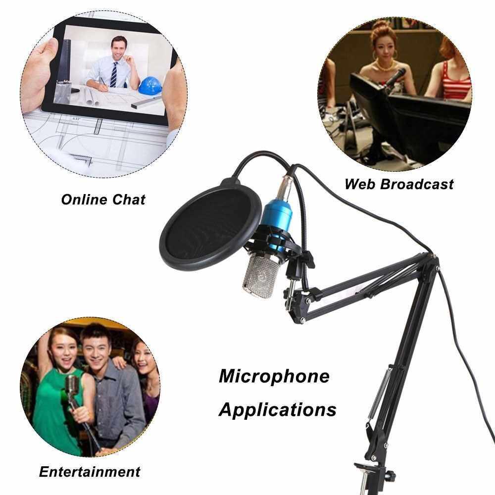 People's Choice Professional BM700 Condenser Microphone Mic KTV Singing Studio Recording Kit Pink (Pink)