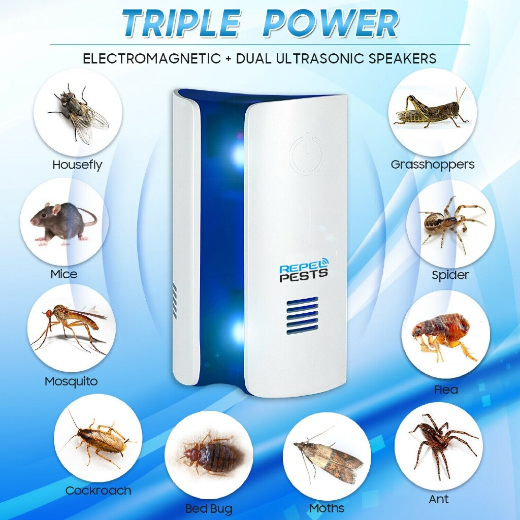 Electronic Pest Repeller ULTRAsonic Pest Reject Rat Mice Repeller Anti Mosquito Insect Killer