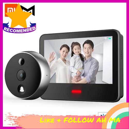 Best Selling Xiaomi Youpin Xiaomo Video Doorbell Security Cat Eye Smart Vision AI Face Identification 720P 166LCD Display Camera For Smart Home Alarm System Work With Mijia App (Black)