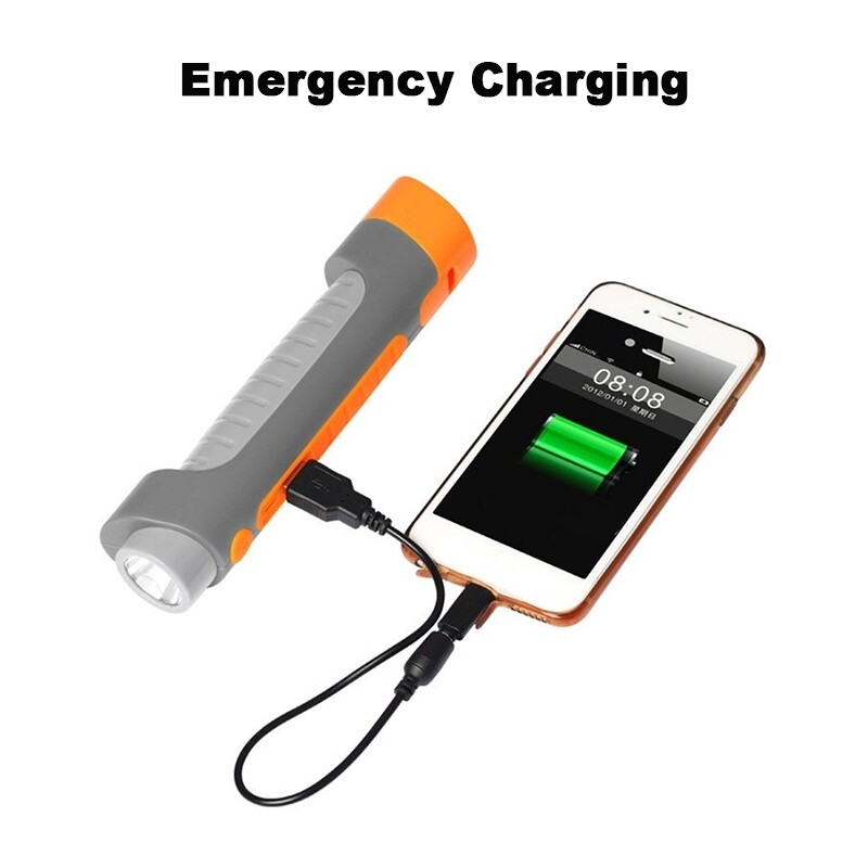 Car Multimedia Players - Multi-functional PORTABLE Car Safety Hammer Emergency LED Flashlight Torch - GREY ORANGE