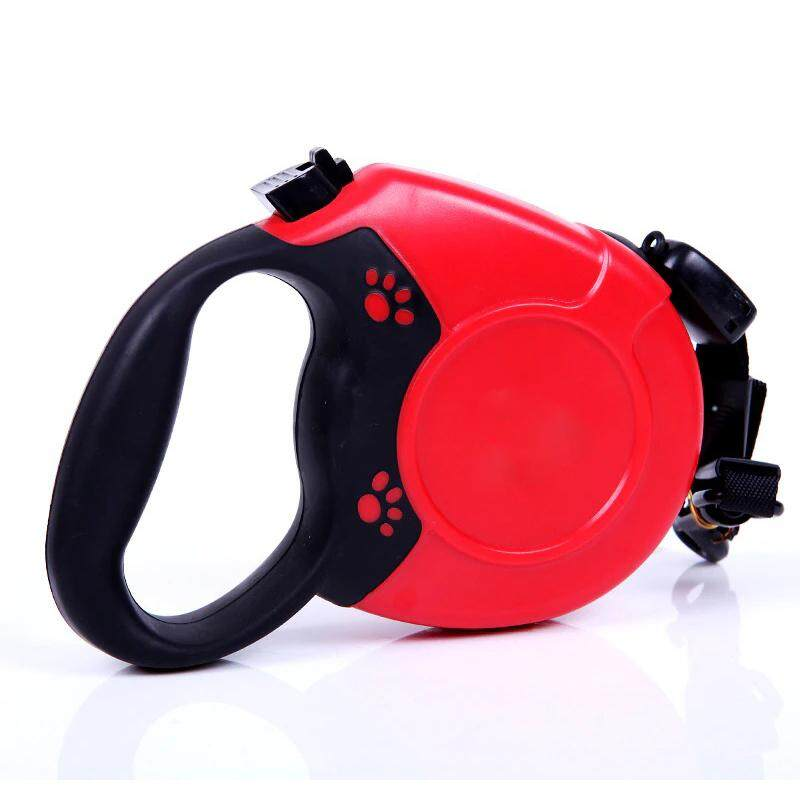 5M Retractable Automatic Rope Extending Pet Leash (Red)