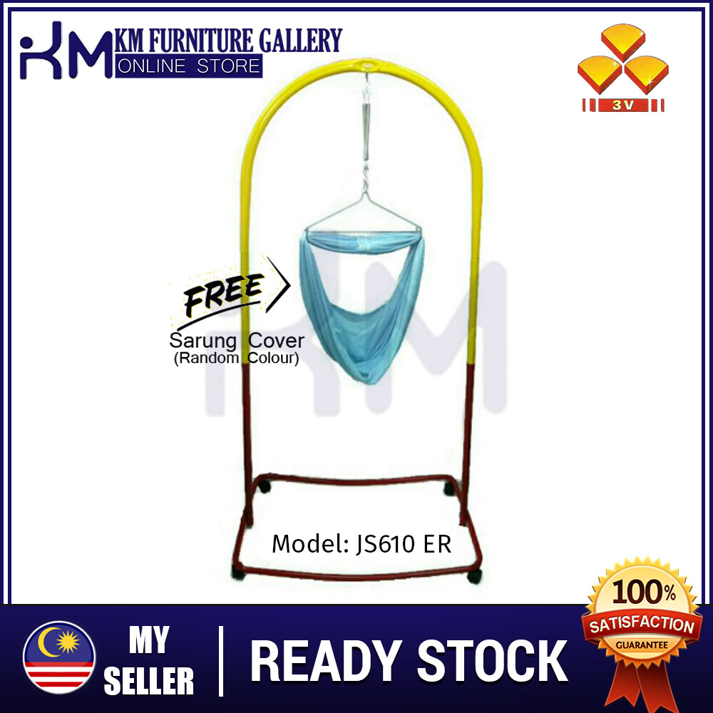 KM 3V Epoxy Baby Sarung Stand With Roller (JS-610A)  KMJS610ERWITHSARUNG