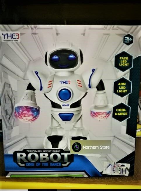 LED Light Robot King of Dance Toys Set
