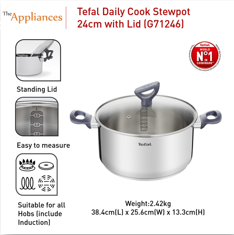 Tefal Daily Cook Stewpot with Lid 24cm