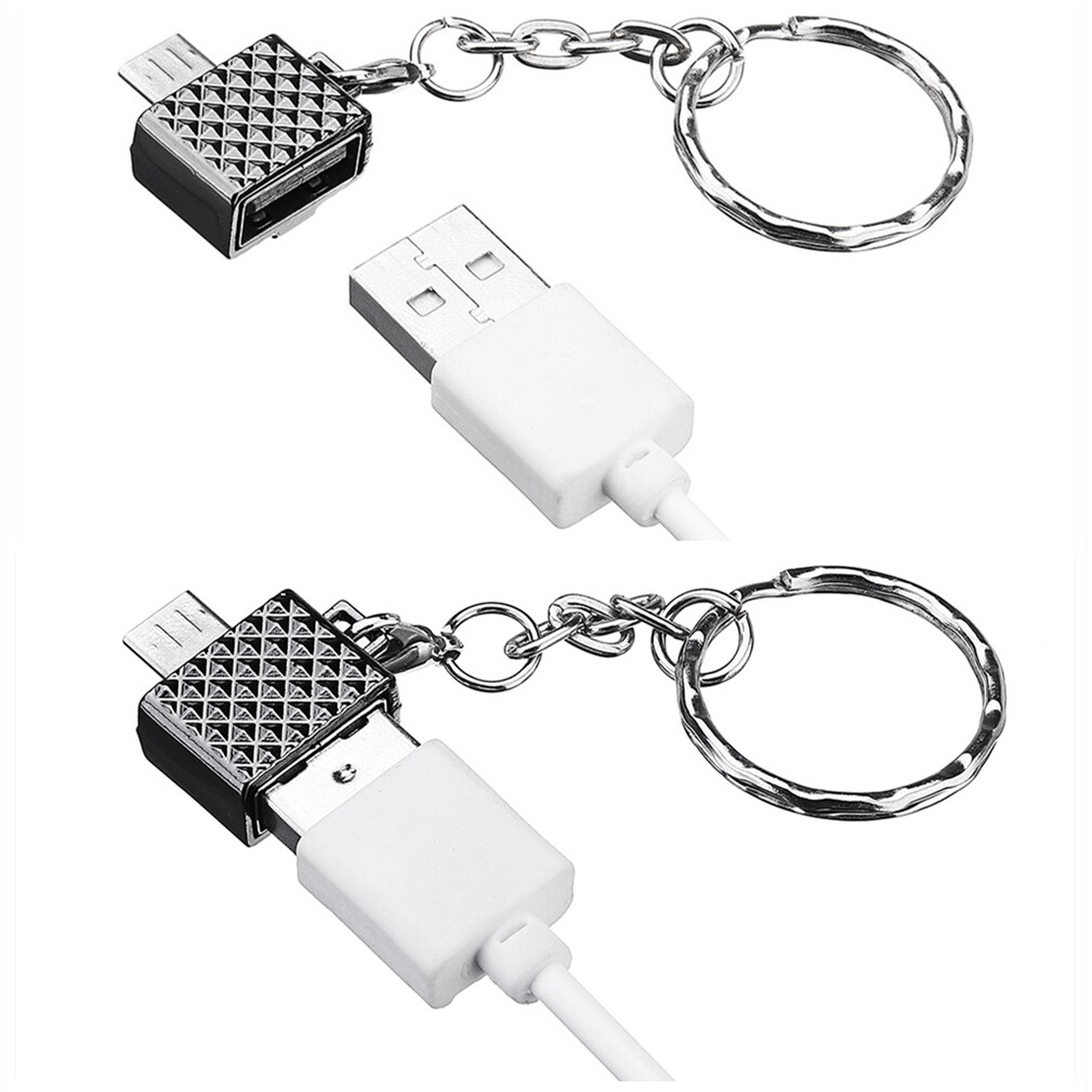 Mobile Cable & Chargers - Universal USB 2.0 to Micro USB PORTABLE MINI Metal OTG Adapter - BLACK / SILVER / GOLD