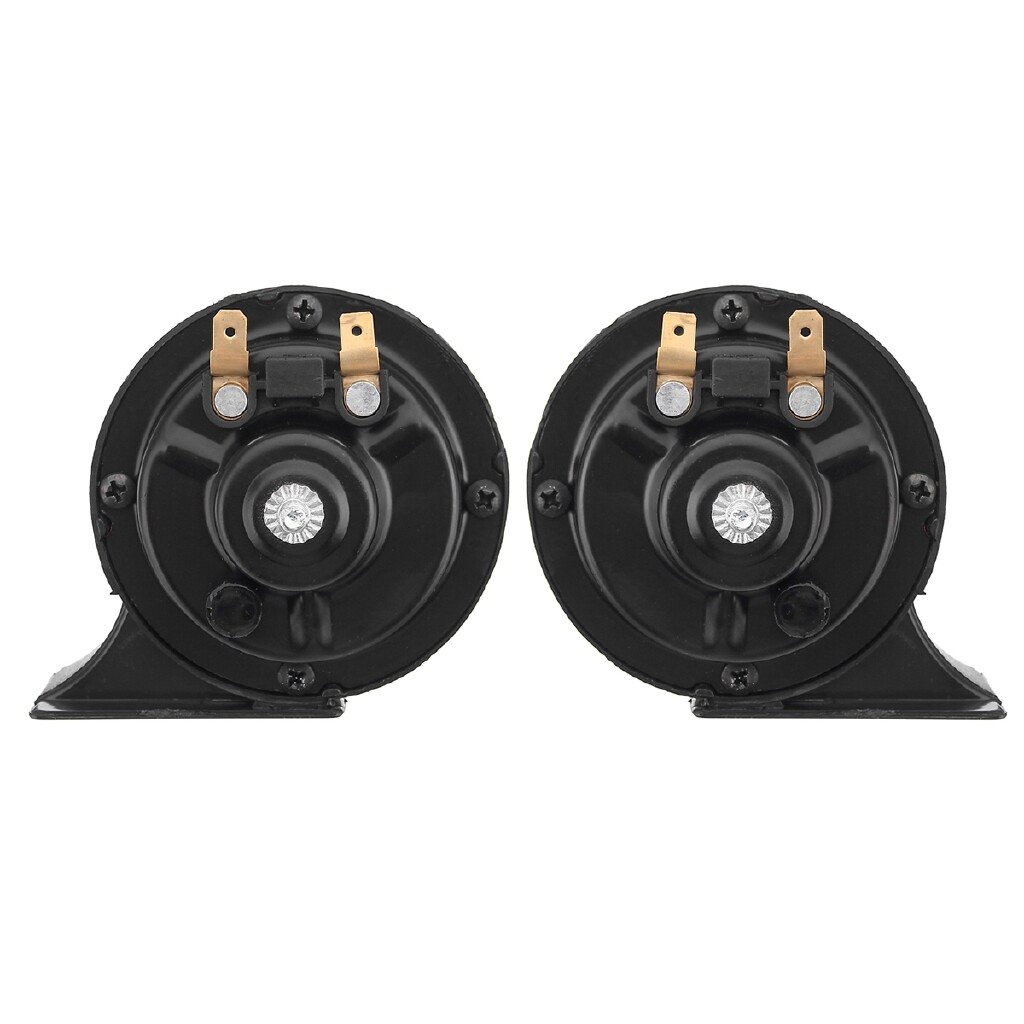 Car Radios - 12V 115dB Loud 510Hz Universal Dual Tone Snail Signal Horn For Car Motorcycle - Electronics
