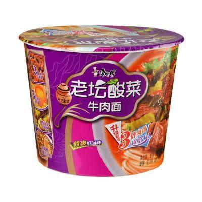 [Umart] Master Kong Bucket Noodles Old altar pickles 109g EXP06/2021【康师傅】老坛酸菜牛肉面 杯面 EXP06/2021
