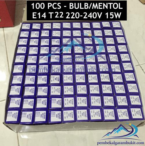 100 pcs Mentol lampu garam Bukit 15watt 100 pcs bulb himalayan salt lamp