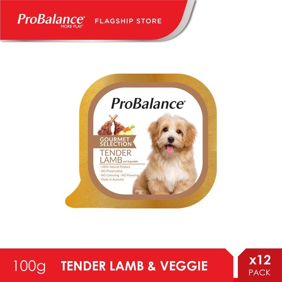 ProBalance 100g Tender Lamb And Vegetable Gourmet Selection Dog Food x 12 Packs [makanan anjing]