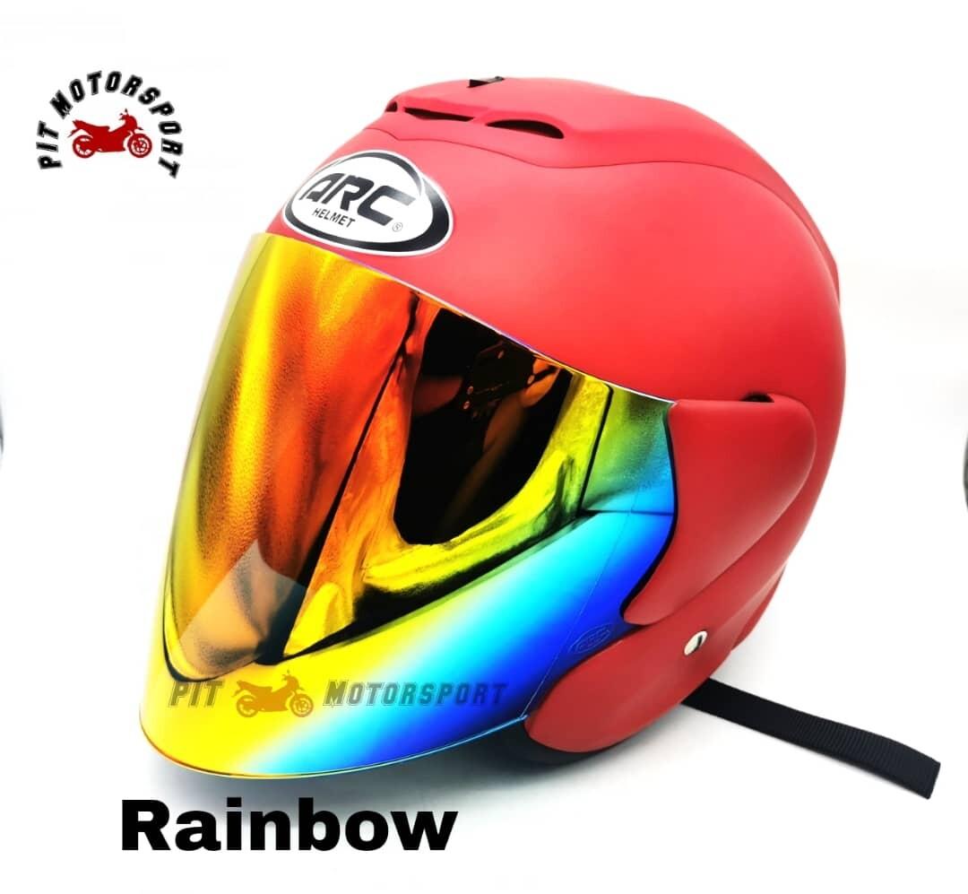 Matt Red Helmet ARC RITZ Original Size L / XXL Add On Visor Clear/Smoke/Gold/Red/Blue/Rainbow MT15 R15 Y15ZR Vario Y16ZR