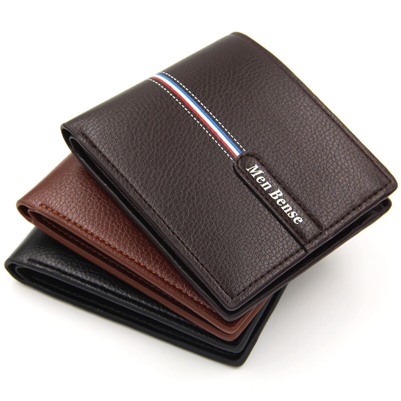 [M'sia Warehouse Direct] 2020 Korean Series Men's Leather Fashion Wallet Bi-Fold Fengshui Wallet Perfect Gift For Love One (Can request Box) Clutch Card Coins Cash Slot With Zip Portable Hand Carry Bag Luxury Top Material Dompet Lelaki Kulit Halal
