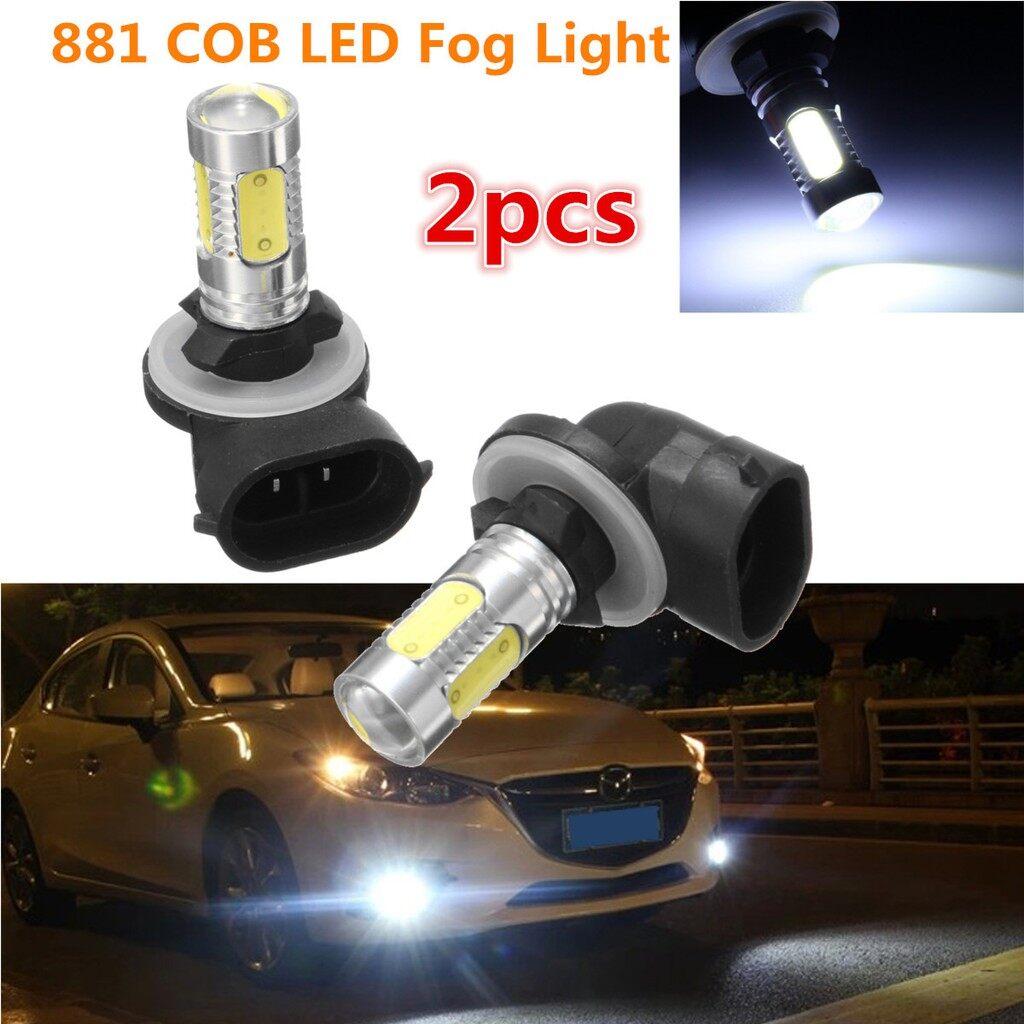 Car Lights - 2x 881 6000K CAR HID White COB LED Fog Lights DRL Bulbs H27W/2 886 889 894 12V - Replacement Parts