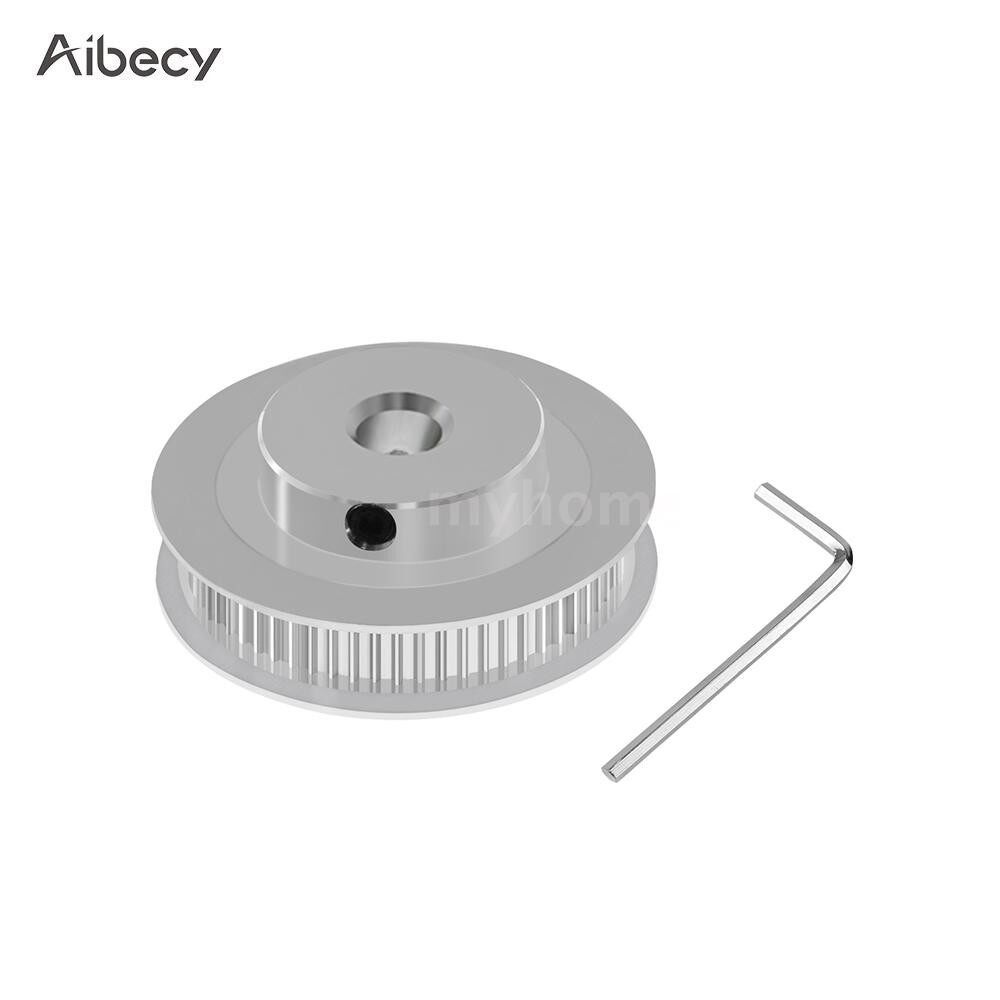 Printers & Projectors - Aluminum GT2 Timing Pulley 60 Teeth 60T 8mm Bore Synchronous Wheel for 6mm Width 3D Printer - 8MM BORE / 5MM BORE