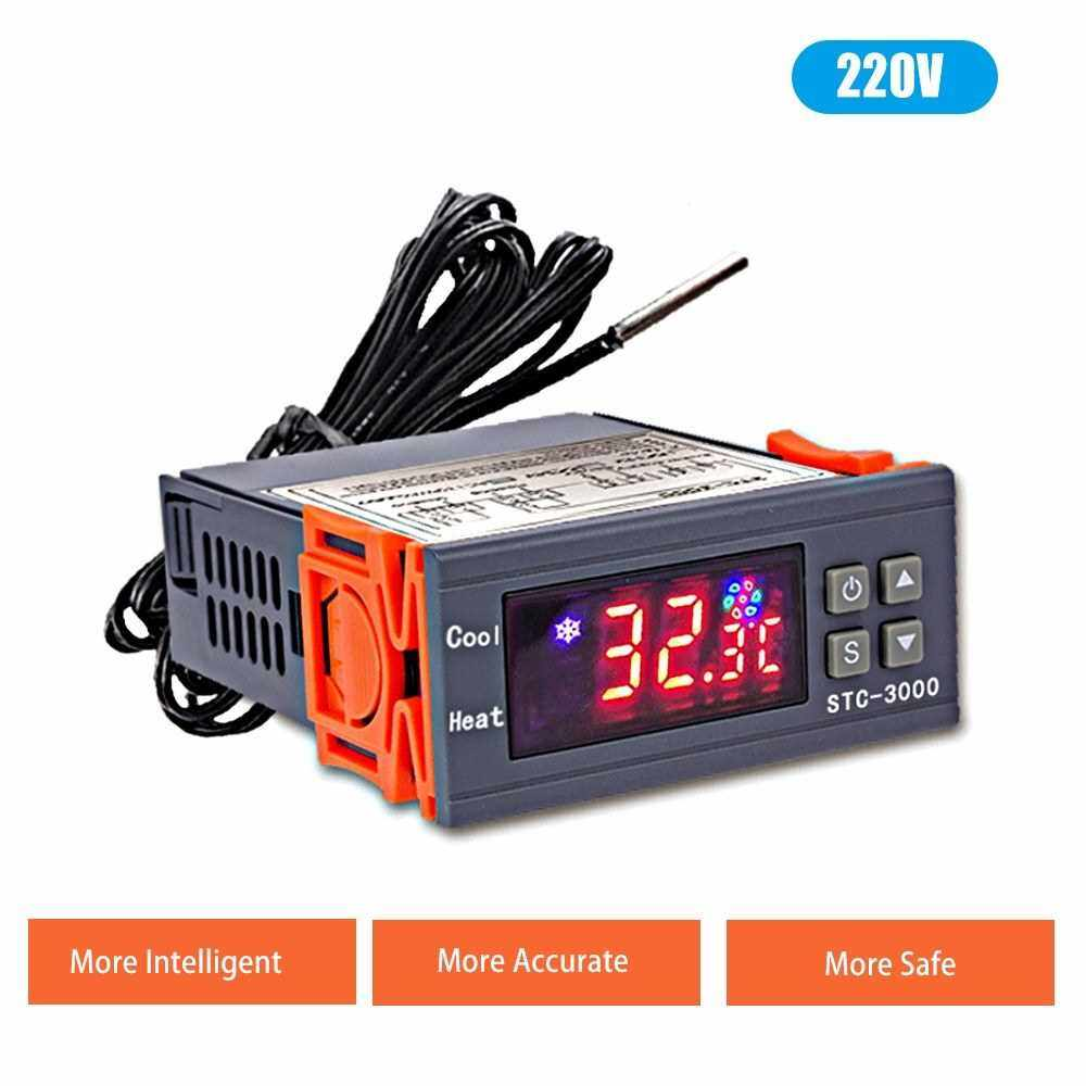 STC-3000 Digital Temperature Switch Controller ? ? Display Heating Cooling Relay NTC Sensor Temp Control Thermostat for Freezer Fridge Hatching (3)