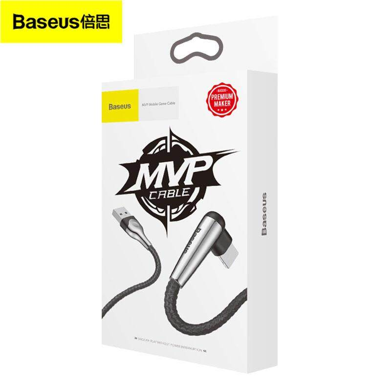 Baseus Sharp-Bird 8 Pin 1M Wire Cord 90 Degree Cable (CALMVP-D01), USB for iPhone, 2.4A, 480Mbps high speed transmission, Black
