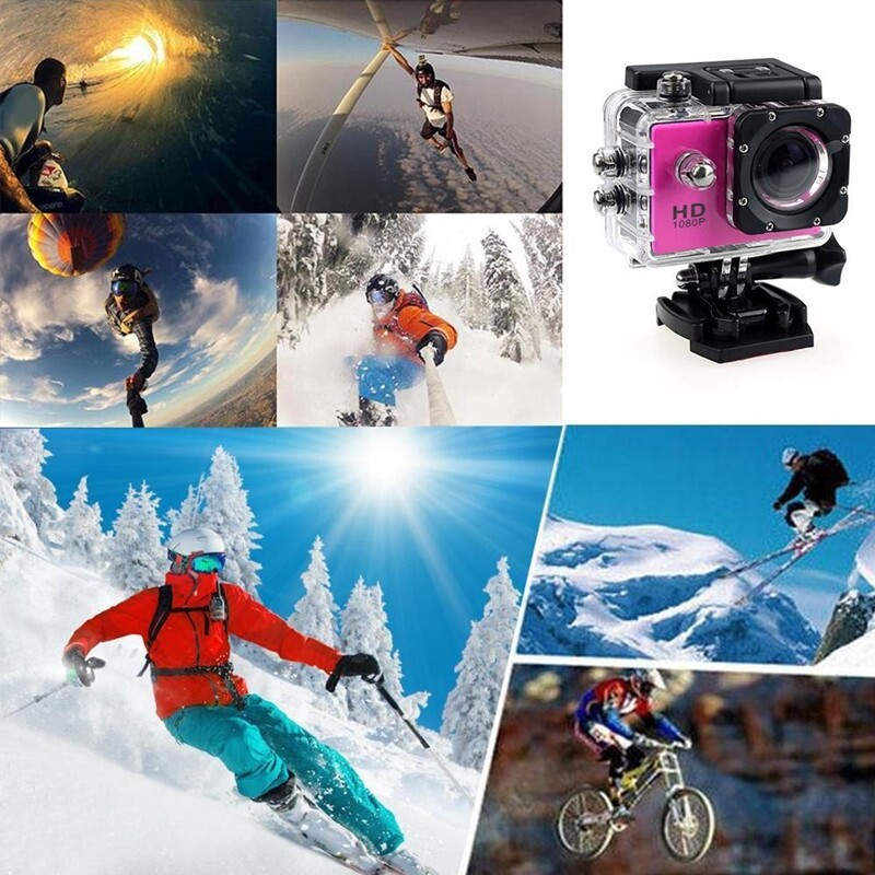 SJ4000 Action Camera Sports DV 1080P Full HD 2.0 inch Screen Diving 30m Waterproof MINI Camcorder - BLACK / BLUE / WHITE / PINK / YELLOW / GRAY / SILVER