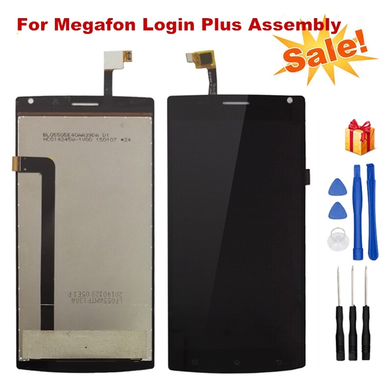 For Megafon Login Plus LCD Display and Touch Screen Digitizer Assembly + Tools