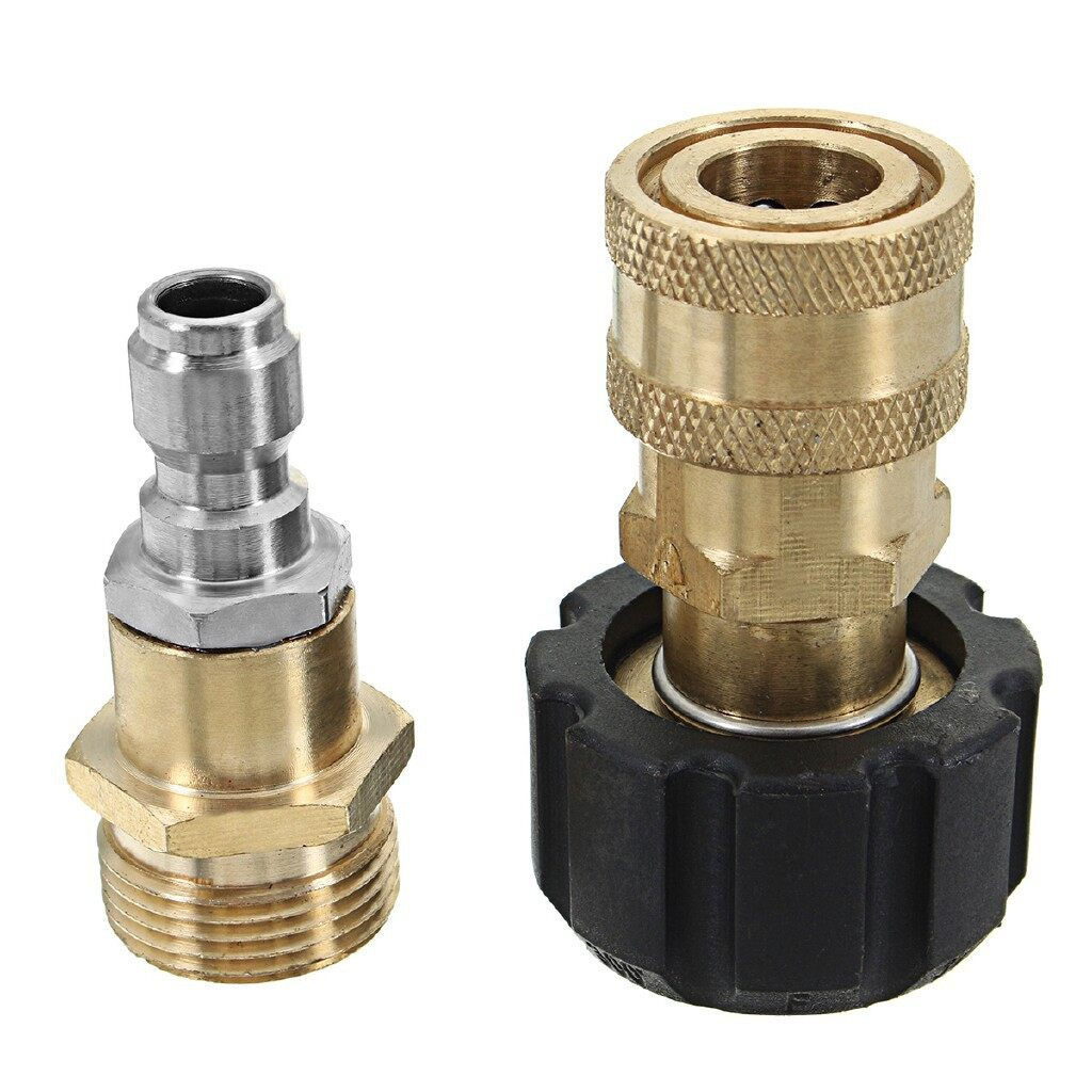 Cleaning Equipment - One SET M22 Thread Connector for Foam Lance and Pressure Washer to - Car Care