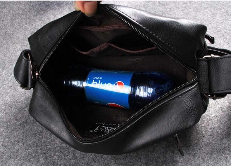 Threebox horizontal Sling Bag men (Leather) Travel bag, shoulder bag casual chest